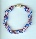 Spiral Bracelet: Sapphire, Amethyst and Twinkling Rose Beads