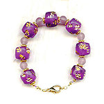 ECLECTIC ELEMENTS BRACELET: Vintage Violet Gold-Accented Acrylic Beads