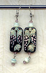 GRAPEVINE EARRINGS:  Handpainted Glass Beads and More