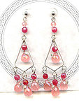 Cherry 'Quartz' and Ruby 'Jade' Chandelier Handcrafted Earrings