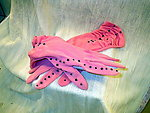 Prom or Party Gloves: Hot Pink with Jet Black Crystals