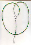 Rainforest: Dark Green Beaded Lanyard Necklace Multi Use
