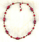 Necklace of Vintage Japanese Lampwork Beads:  RED, AND LOVING IT!
