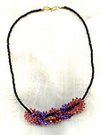 WHEELS WITHIN WHEELS: Colourful Needlewoven Art Moderne Necklace