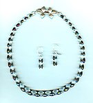 Friendship Forever Jewelry Set: Clear, Smokey Quartz Exotic Cut Beads