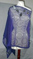 Fashion Apparel: Silver Sequin Amethyst Evening Poncho