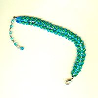 Blue on One Side and Green on the Other Super-Versatile Bracelet