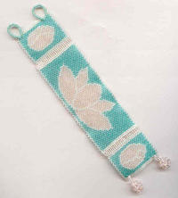 LOTUS BRACELET:  Glowing Needlewoven Three-Panel Beauty