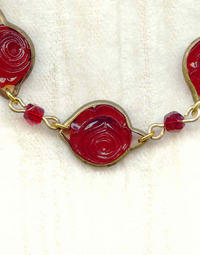 Deep Red Vintage Channel Set Crystal Bracelet