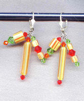 Fashion Earrings: Citrus Colors in Swarovski Crystals and Cane Glass