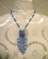 Lady of the Light: Sky Blue Vintage Crystal Fringed Fashion Necklace
