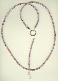 HAIL COLUMBIA: Patriotic Beaded Unisex Lanyard Necklace Badge Holder