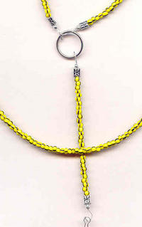 BUMBLEBEE: Black and Yellow Bead Unisex Lanyard Necklace Keyring Etc