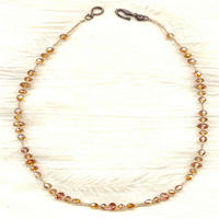 BARELY EARTHBOUND:  Swarovski Crystal Copper Necklace