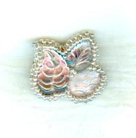 Lapel Pin: Lavender Glass Leaf Cluster